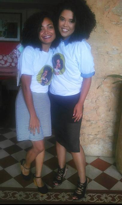 Cida Cachos e Fernanda Chaves