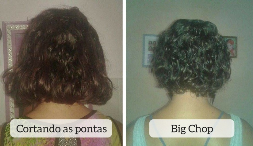 Cortando as pontas x Big Chop