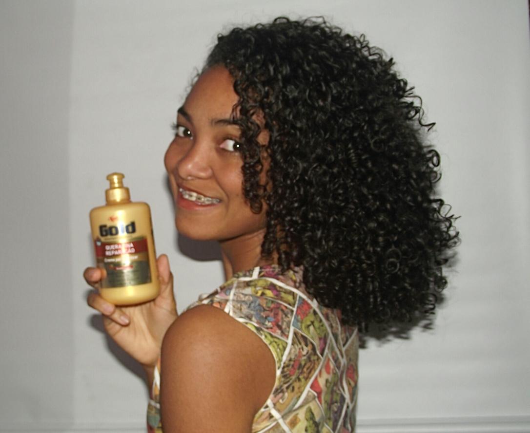 Resultado do Creme de Pentear Queratina Reparação da Niely Gold no meu cabelo - Blog Cida Cachis