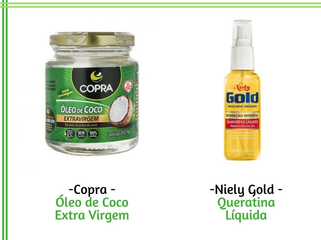 Óleo de coco - Copra - Queratina Líquida - Niely Gold - Cida Cachos