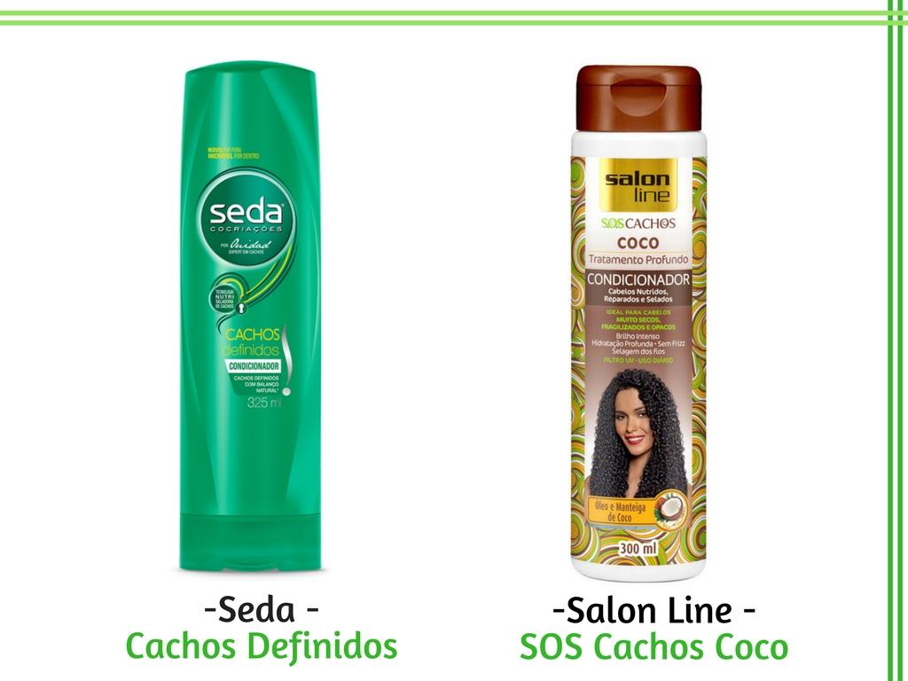 Condicionador para cachos - Seda - Cachos Definidos e Salon Line - SOS Cachos Coco - Cida Cachos