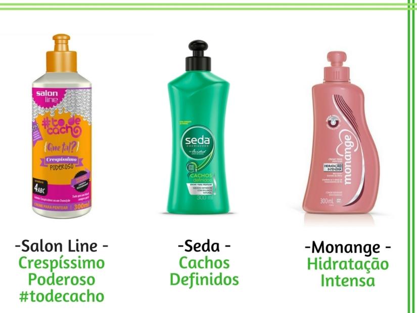 Cremes de pentear para cachos - Salon Line - Crespíssimo Poderoso #todecacho - Seda - Cachos Definidos - Monange - Hidratação Intensa - Cida Cachos