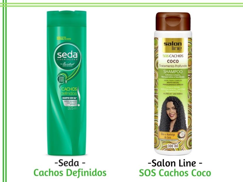 Shampoo para cachos - Seda - Cachos Definidos e Salon Line - SOS Cachos Coco - Cida Cachos