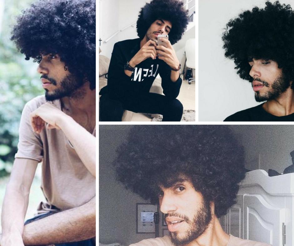 Inspiração de cabelo cacheado masculino 2 - Cida Cachos
