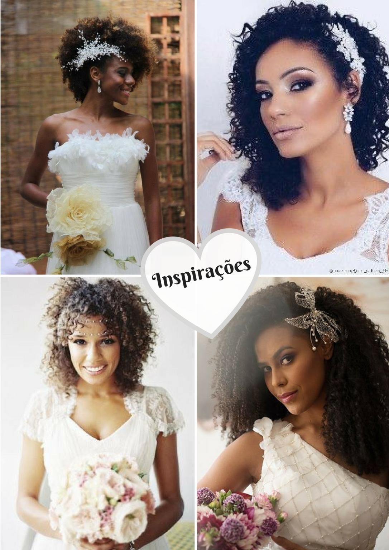 Penteados para noivas de cabelos cacheados e crespos 2 - Blog Cida Cachos