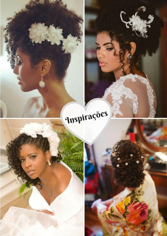 Penteados para noivas de cabelos cacheados e crespos - Blog Cida Cachos