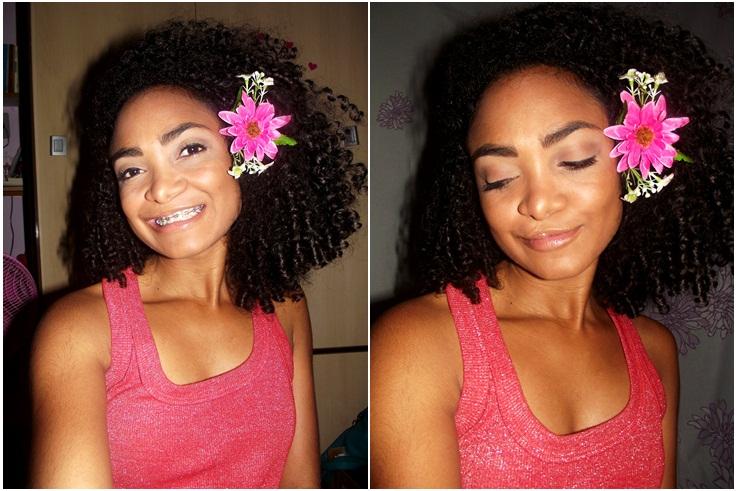 Penteados com flores - Blog Cida Cachos