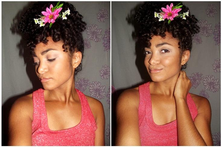 Penteados com flores - Blog Cida Cachos2