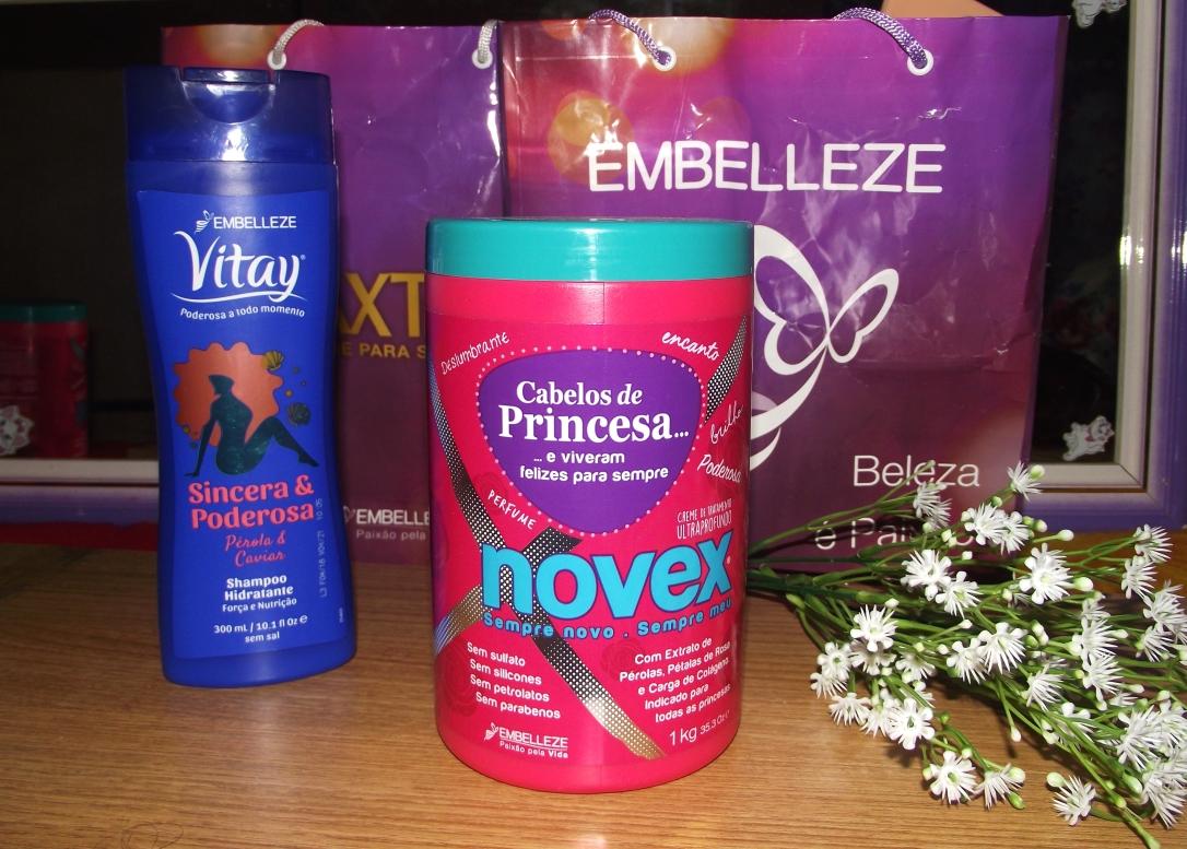 Shampoo Vitay Sincera & Poderosa e Máscara Cabelos de Princesa da Embelleze